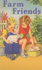 Farm Friends, Children with Rabbits