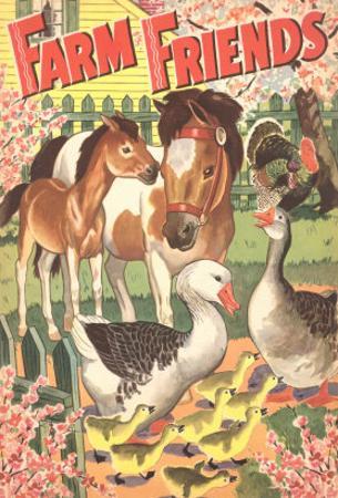 Farm Friends, Geese, Horses