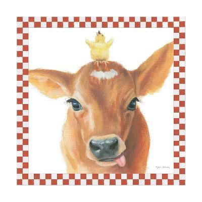 Farm Friends III Border-Myles Sullivan-Art Print