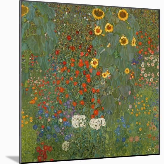 Farm Garden with Sunflowers, 1905-06-Gustav Klimt-Mounted Giclee Print