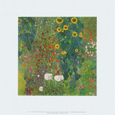 Farm Garden with Sunflowers, 1905-Gustav Klimt-Art Print
