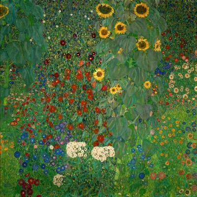 Farm Garden with Sunflowers, c.1912-Gustav Klimt-Art Print