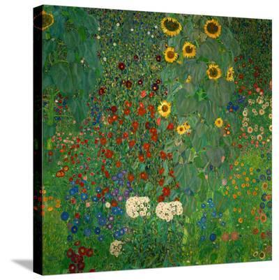 Farm Garden with Sunflowers, c.1912-Gustav Klimt-Stretched Canvas Print
