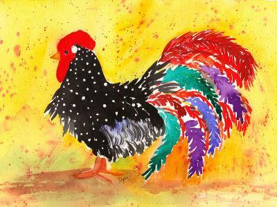 Farm House Rooster I-Beverly Dyer-Art Print