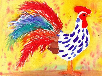 Farm House Rooster II-Beverly Dyer-Art Print