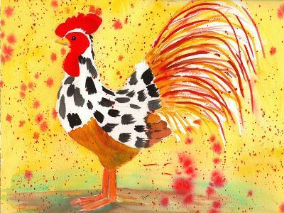 Farm House Rooster IV-Beverly Dyer-Art Print