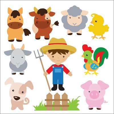 Farm Illustration-Svetlana Peskin-Art Print
