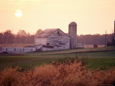 Farm in Rockville, Maryland at Sunset-Richard Nowitz-Photographic Print
