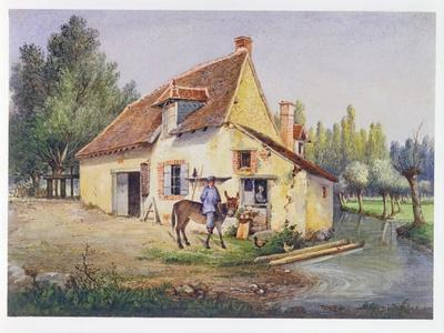 Farm in the Epernay Region, C.1850--Giclee Print