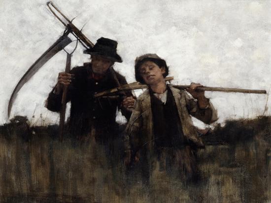 Farm Labourers, (1875-1929)-Henry Herbert La Thangue-Giclee Print