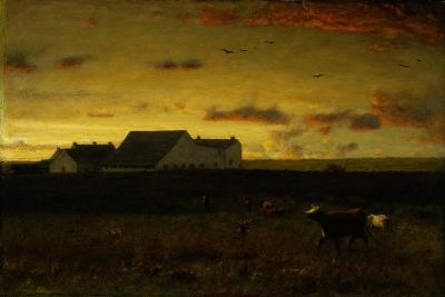 Farm Landscape, Cattle in Pasture, Sunset, Nantucket, C.1883-George Snr^ Inness-Giclee Print