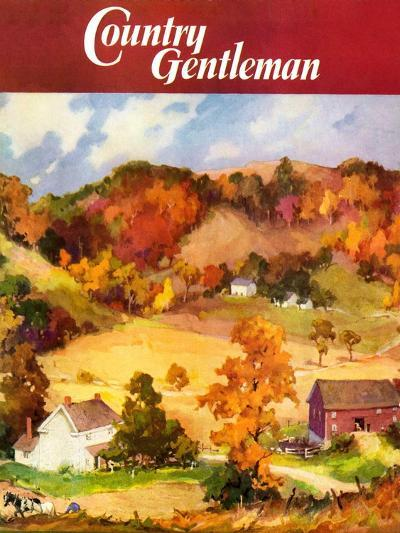 """""""Farm Landscape,"""" Country Gentleman Cover, November 1, 1940--Giclee Print"""