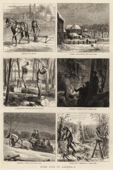Farm Life in Canada, I-William Henry James Boot-Giclee Print