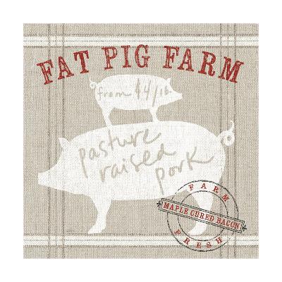 Farm Linen Pig-Sue Schlabach-Art Print