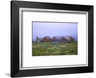 Farm near St. Magnus Church, Isle of Egilsay, Orkney, Scotland, 20th century-CM Dixon-Framed Photographic Print
