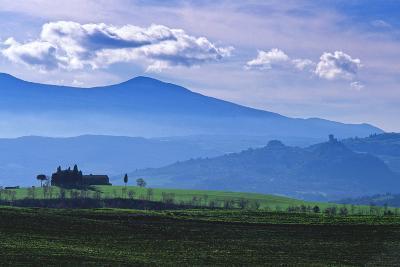 Farm on a Hill Near Pienza-Marcel Malherbe-Photographic Print