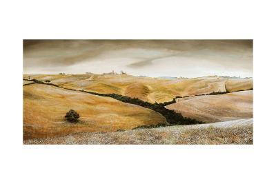 Farm on Hill, Tuscany, 2001-Trevor Neal-Giclee Print