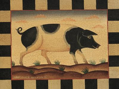 Farm Pig-Diane Pedersen-Art Print