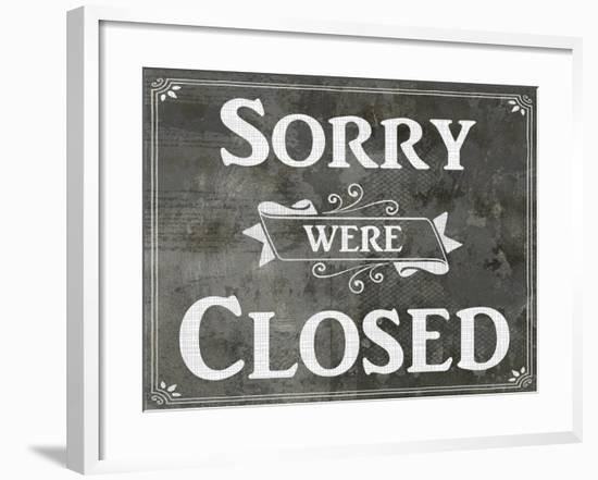 Farm Sign_Closed-LightBoxJournal-Framed Giclee Print