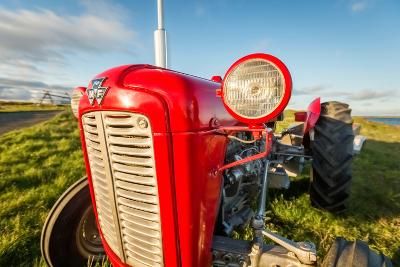 Farm Tractor, Flatey Island, Borgarfjordur, Iceland--Photographic Print