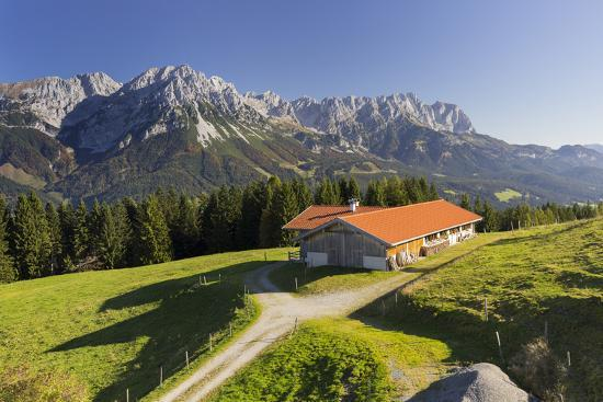 Farm, Wilder Kaiser, Scheffau, Tyrol, Austria-Rainer Mirau-Photographic Print