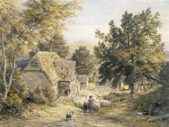 Farm Yard Near Princes Risborough, Buckinghamshire, England-Samuel Palmer-Giclee Print