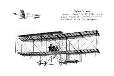 Farman Biplane, 20th Century--Giclee Print