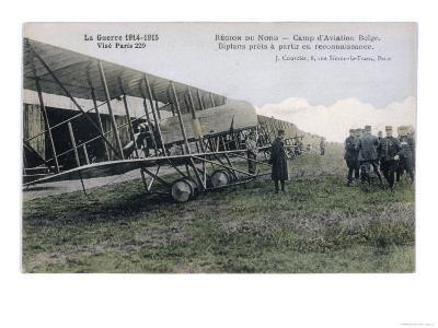 Farman Biplanes of a Belgian Squadron Used for Reconnaisance--Giclee Print