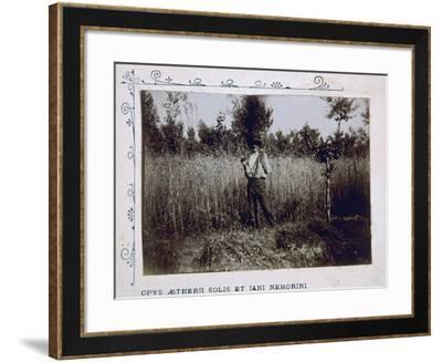 Farmer During Harvest--Framed Giclee Print