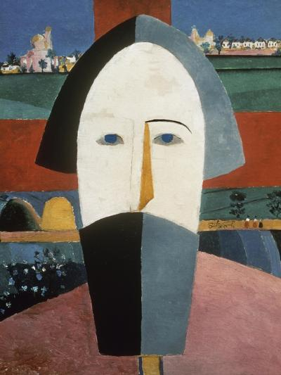 Farmer's Head-Kasimir Malevich-Giclee Print