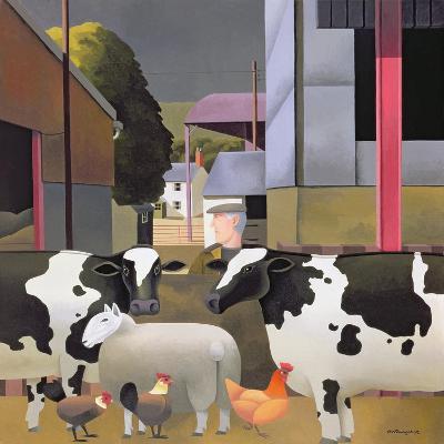 Farmer with Cows, 1992-Reg Cartwright-Giclee Print