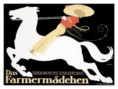 Farmermadchen Equestrian Horse Poster--Giclee Print