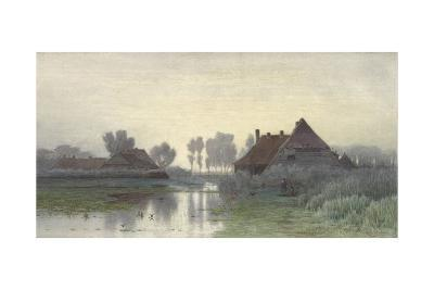Farmers' Homes on the Water in Morning Mist, Ca. 1848-1903-Paul Joseph Constantin Gabriel-Giclee Print