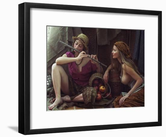 Farmgirls-David Dubnitskiy-Framed Photographic Print