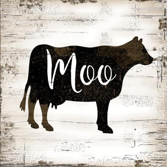 Farmhouse Cow-Jennifer Pugh-Art Print