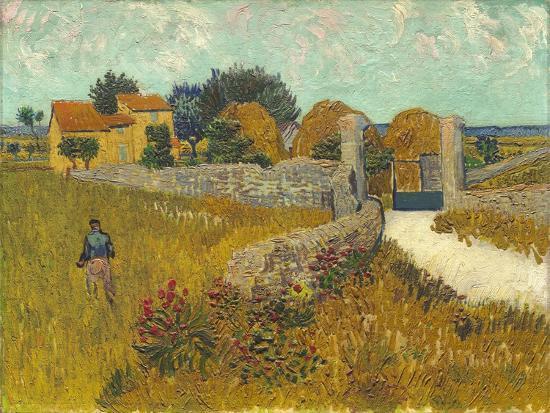 Farmhouse in Provence, 1888-Vincent van Gogh-Premium Giclee Print