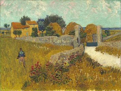 A Farmhouse in Provence Van Gogh Drawings Fine Art Print
