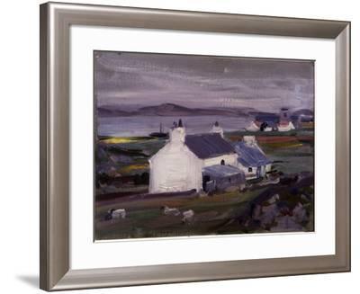 Farmsteading, Iona, Auchabhaich Croft-Francis Campbell Boileau Cadell-Framed Giclee Print