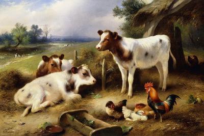 Farmyard Friends, 1923-Walter Hunt-Giclee Print