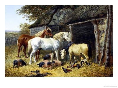 Farmyard Friends-John Frederick Herring II-Giclee Print
