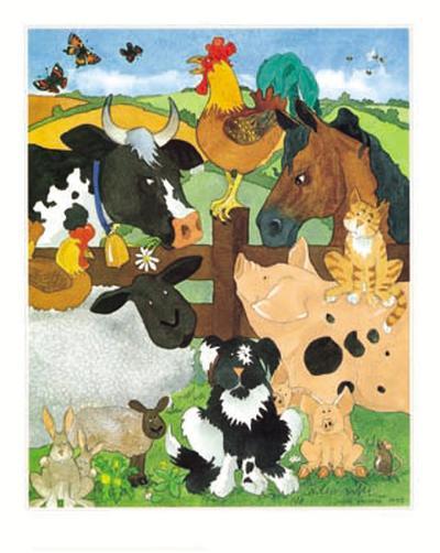 Farmyard Fun-Julia Hulme-Art Print