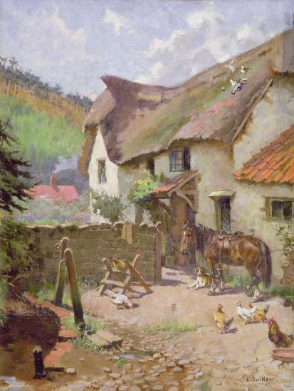 Farmyard, Porlock, Somerset-Leghe Suthers-Giclee Print