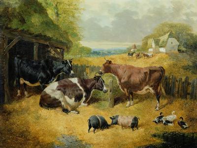 Farmyard Scene, 1853-John Frederick Herring I-Giclee Print