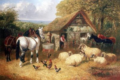 Farmyard Scene, (C1840-C1900)-John Frederick Herring II-Giclee Print