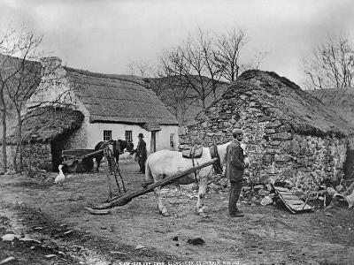 Farmyard Scene, Glenshesk, County Antrim, Ireland, C.1895-Robert John Welch-Giclee Print