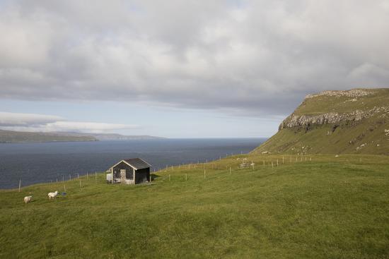 Faroes, Sandoy, house-olbor-Photographic Print