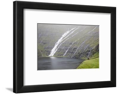 Faroes, Streymoy, Saksun, scenery-olbor-Framed Photographic Print
