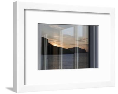 Faroes, Vagar, sundown, window-olbor-Framed Photographic Print