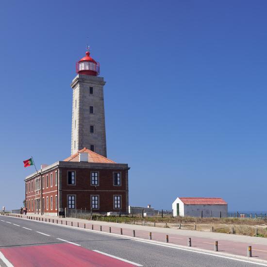 Farol Penedo da Saudade lighthouse, Sao Pedro de Moel, Atlantic Ocean, Portugal, Europe-Markus Lange-Photographic Print