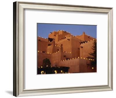 Farolitos at Loretto During the Christmas Season, at Santa Fe, New Mexico, USA-Westwater Nedra-Framed Photographic Print